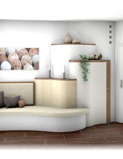 Kachelofen Landhaus mit Kaufmann-Keramik