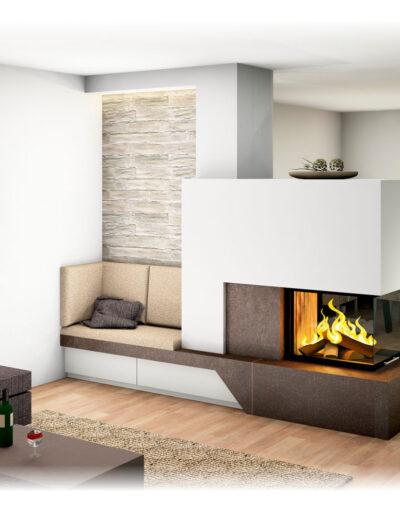 durchsichtkamin tunnelkamin raumteiler ofen heizkamin fireplace kamin naturstein feuer wrme holz. Black Bedroom Furniture Sets. Home Design Ideas