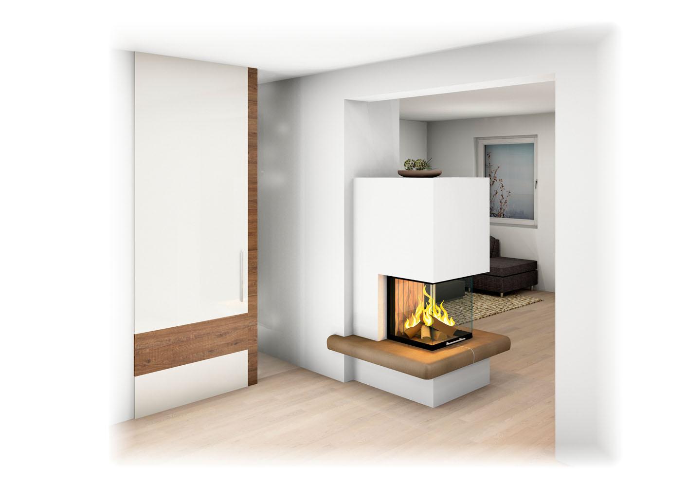Moderne Heizkamine heizkamin mit ofenbank sichtfenster großkeramik unterschiedliche
