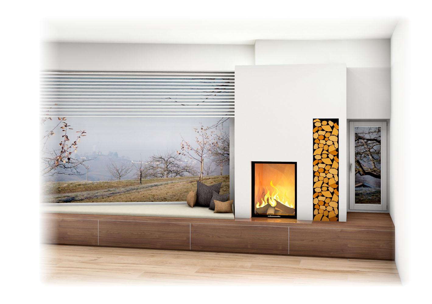 kachelofen modern mit liegeflche spielmann ehrwald hohes wohnzimmer mit und gemtlichem. Black Bedroom Furniture Sets. Home Design Ideas