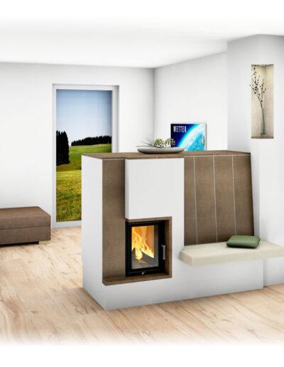 kamin mit sitzbank raumteiler wohn design. Black Bedroom Furniture Sets. Home Design Ideas