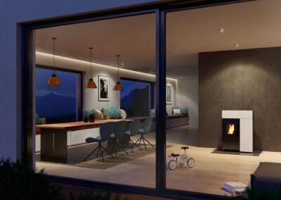 freistehende kamin fen und pellet fen von rika die freistehende alternative. Black Bedroom Furniture Sets. Home Design Ideas