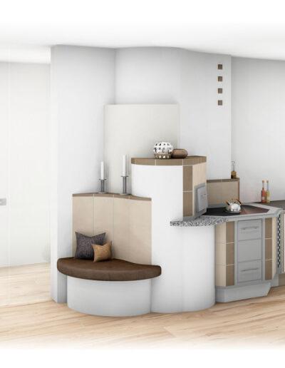 Tischherd Modern mit Bank_