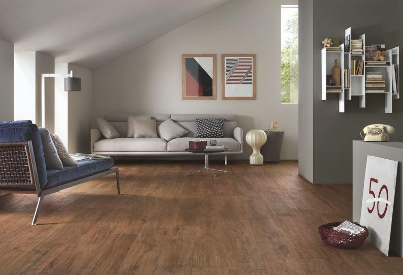 Fliesen für Wohnzimmer: Woodliving by Stein&Co