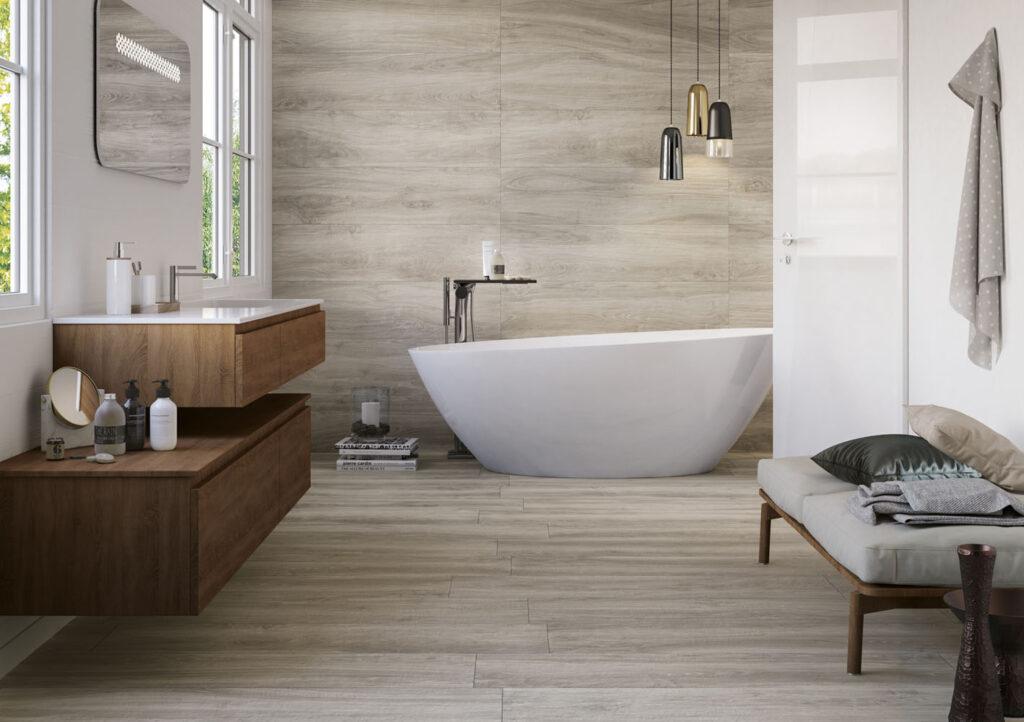 Trendig: Badewanne im Wohnbereich